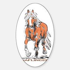 Haflinger Sticker (Oval)