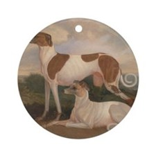 the greyhounds Round Ornament
