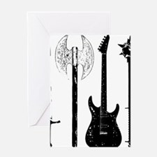 Guitar Bass Music Rock and Roll Conc Greeting Card