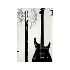 Guitar Bass Music Rock and Roll C Rectangle Magnet