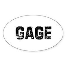 Gage Oval Decal