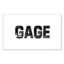 Gage Rectangle Decal