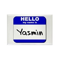 hello my name is yasmin Rectangle Magnet