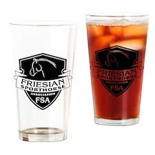Friesian Sporthorse logo dark Drinking Glass