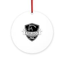 Friesian Sporthorse logo dark Round Ornament