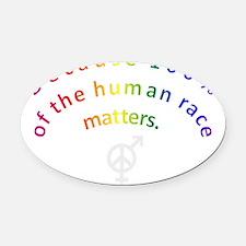 Rainbow Arc Dart Shirts Oval Car Magnet