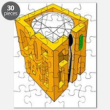 GIA transparent diamond green stone Puzzle