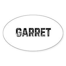 Garret Oval Decal
