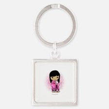Sakuras Girls Day Dolls button Square Keychain