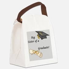 Big Sister of a Graduate Canvas Lunch Bag