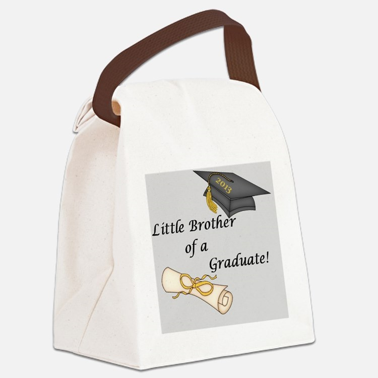 Little Brother of a Graduate Canvas Lunch Bag
