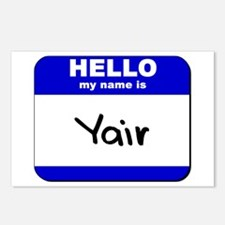 hello my name is yair  Postcards (Package of 8)