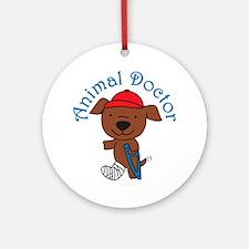Animal Doctor Round Ornament