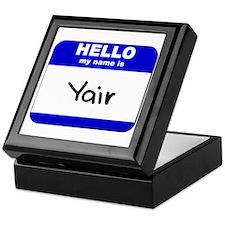 hello my name is yair Keepsake Box