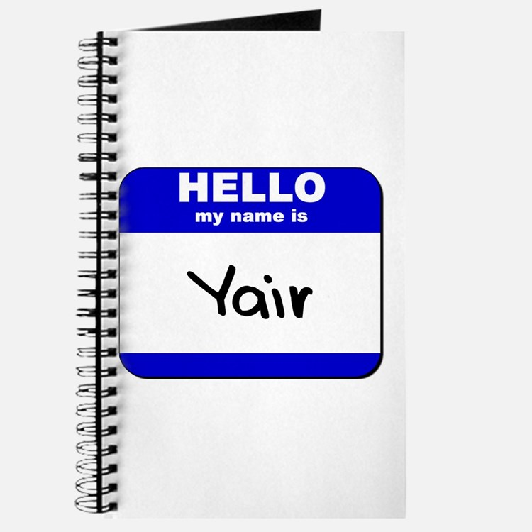 hello my name is yair Journal
