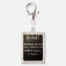 The truth about Alcohol Silver Portrait Charm