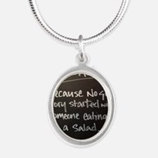 The truth about Alcohol Silver Oval Necklace