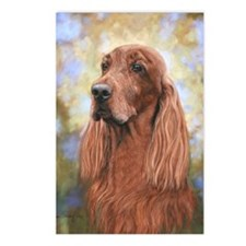 Irish Setter by Dawn Seco Postcards (Package of 8)