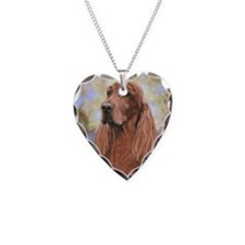 Irish Setter by Dawn Secord Necklace