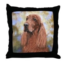 Irish Setter by Dawn Secord Throw Pillow