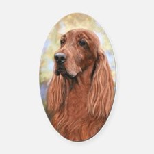 Irish Setter by Dawn Secord Oval Car Magnet