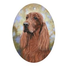 Irish Setter by Dawn Secord Oval Ornament