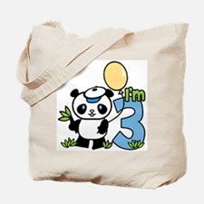 Lil' Panda Boy 2nd Birthday Tote Bag