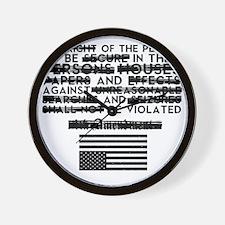 4th Amendment Wall Clock