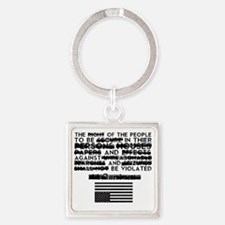 4th Amendment Square Keychain