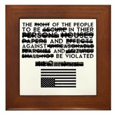 4th Amendment Framed Tile