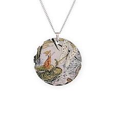 Vintage Woman Fairy Butterfl Necklace