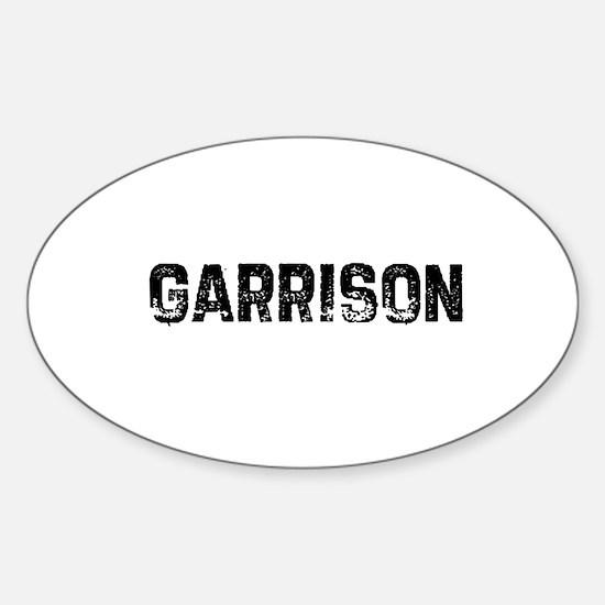 Garrison Oval Decal