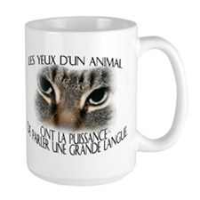 Les yeux d'un animal... Mug(2-sided)