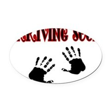 Arriving Soon Oval Car Magnet
