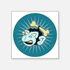 """ZOMBIE MONKEY HEAD Square Sticker 3"""" x 3"""""""