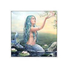 "Beautiful Mermaid Square Sticker 3"" x 3"""
