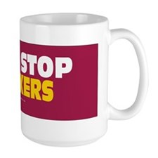 Guns Stop Stalkers Sticker Mug