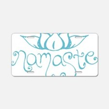 Namaste Lotus Flower Aluminum License Plate