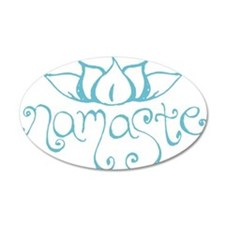 Namaste Lotus Flower Wall Decal