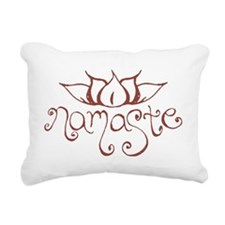 Namaste Lotus Flower Rectangular Canvas Pillow