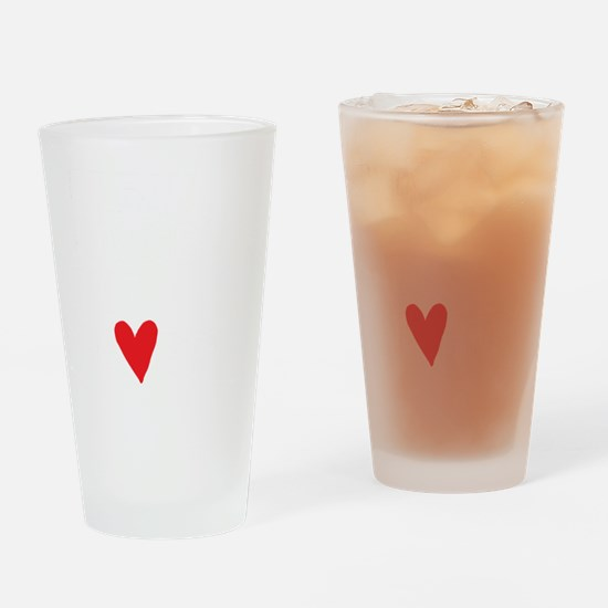 Break Dance Not Hearts Drinking Glass