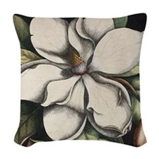 Vintage Magnolia Woven Throw Pillow