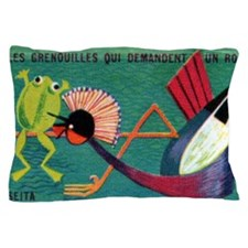 The Frogs Who Desired a King Matchbox  Pillow Case