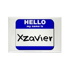 hello my name is xzavier Rectangle Magnet