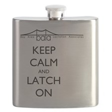BALA bridge says Keep Calm and Latch On Flask
