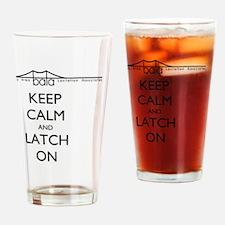 BALA bridge says Keep Calm and Latc Drinking Glass