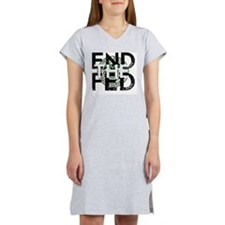 End the Fed Green Women's Nightshirt