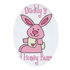Daddy's Lil' Honey Bunny Oval Ornament