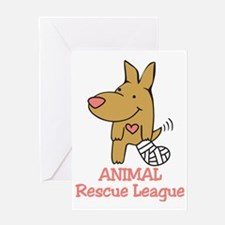 Animal Rescue League Greeting Card