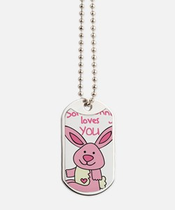 Somebunny Loves You Dog Tags